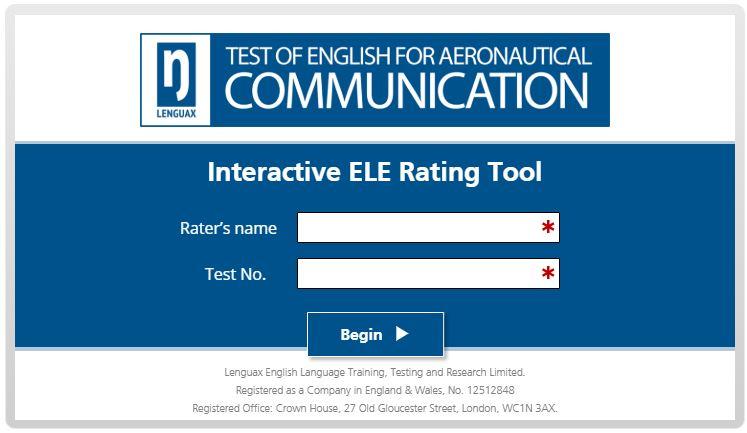 Interactive ELE Rating Tool